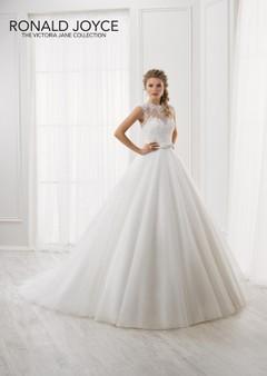 Vestito da sposa in avorio. Vestito da Sposa senza maniche con scollatura  Illusion bianco sposa 67cafac5bd0